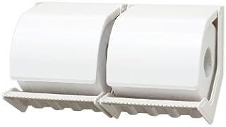 シマブン ペーパーホルダー おくだけ スタンダードタイプ2連式 PR-2-S オフホワイト
