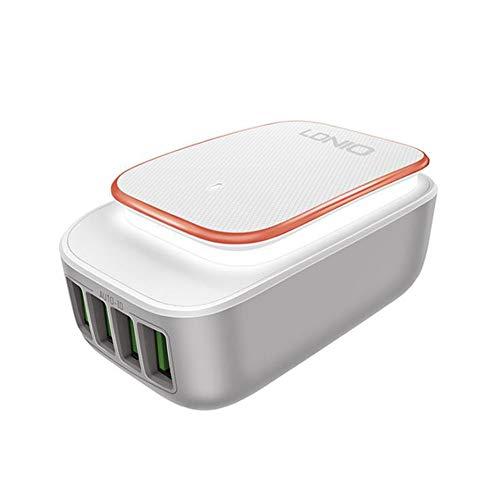 USB Power Board met touch-nachtlampje, inclusief 4 USB-poorten, Fine-Touch-nachtlampje, 3 soorten stekkers