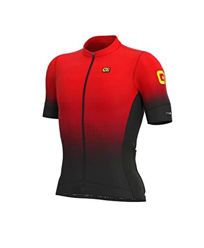 Abbigliamento Uomo Ciclismo Ale Dots Pr-s (XL, Nero-Rosso)