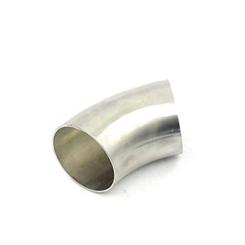 Viviance 2,5 inch 63mm roestvrij staal 45 graden uitlaat buiging elleboog pijp
