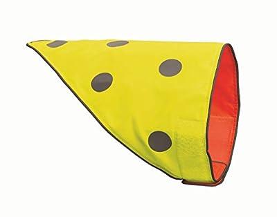 Spot the Dog, Easy Fastening Reversible Dog Bandana, Large to X-Large, Florescent Orange/Yellow