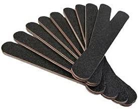 Vishine® Lot de 10 pièces limes minces à abrasifs pour ongles 180/100 - professionnelles et artistiques