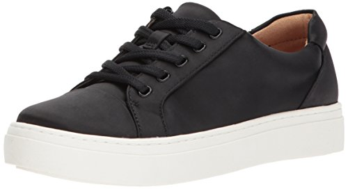 Naturalizer Women's Cairo Sneaker, Black Satin, 9.5 Wide US