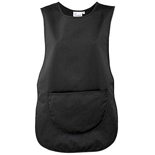Premier Workwear Damen Ladies Pocket Tabard Top, Schwarz, 46
