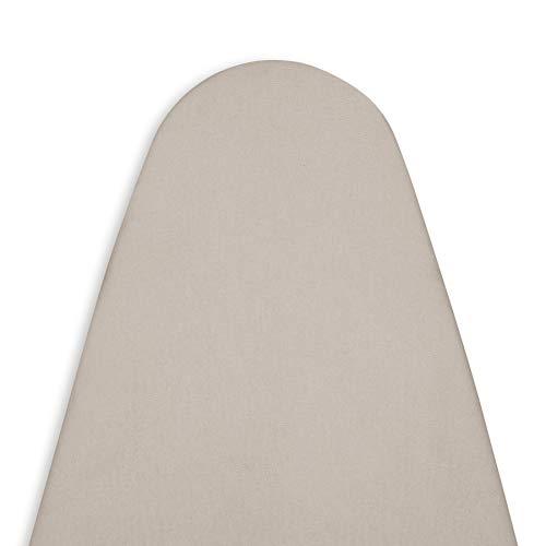 Encasa Homes Housse Table à Repasser avec Feutre épaisseur 4 mm - Beige - Plain Couleurs Cotton, Elastic (Convient à la Norme Grandes Boards of 122 x 38 cm) Réfléchissant à la Chaleur