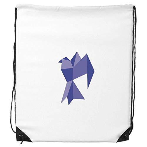 DIYthinker Púrpura Origami patrón Abstracto Pigeon morral del Lazo de Compras Deportes Bolsas de Regalo
