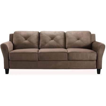 Taryn Rolled Arm Sofa Brown Rolled Arms For A Touch Of English Style Kitchen Dining