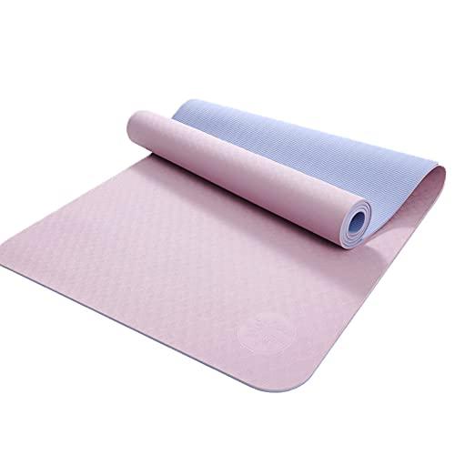 KOKIN Esterilla Deporte Yoga Pilates Fitness Colchoneta Gimnasia Antideslizante, No Tóxico Alfombra Yoga para Deporte Ejercicio Sala de Yoga, 6/8mm de Grosor/Pink / 8mm