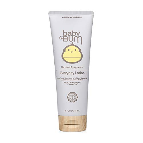 Baby Bum Everyday Lotion | Moisturizing Baby Body Lotion for Sensitive Skin with Shea and Cocoa Butter| Natural Fragrance | Gluten Free and Vegan | 8 FL OZ