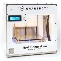 Sharebot Next Generation Stampante 3D con 1 Estrusore e Piano Riscaldato, Bianco