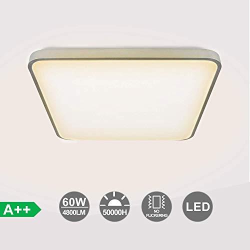 VINGO LED Deckenleuchte, 60W Warmweiß Wohnzimmerlampe Deckenlampe für Schlafzimmer, Küche, Balkon, Flur, Badezimmer, 4800LM, 3200K, IP44