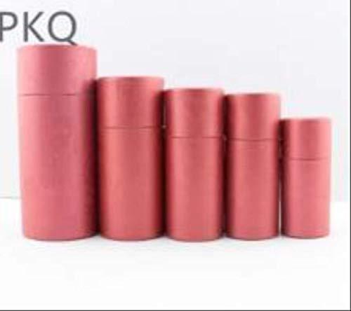 FHFF Kraft papieren tas ronde kartonnen geschenkdoos cosmetische etherische olie fles verpakking doos lippenstift parfum gift verpakking binnen 9.4X3.4Cm 30Ml rood
