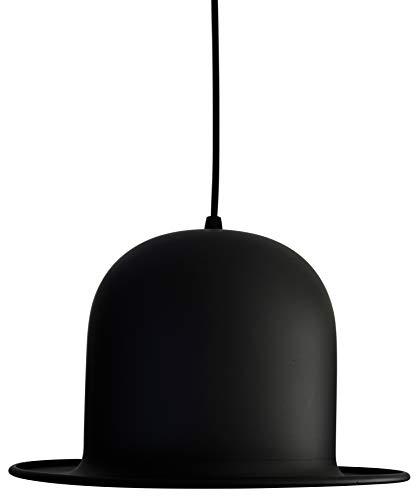 United Entertainment - Hut-Pendelleuchte/Hut-Hängelample im Design der klassischen Melone - Schwarz/Goldfolie