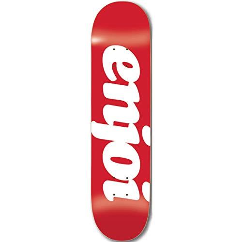 Enjoi Skateboard-Decks, beflockt, Rot