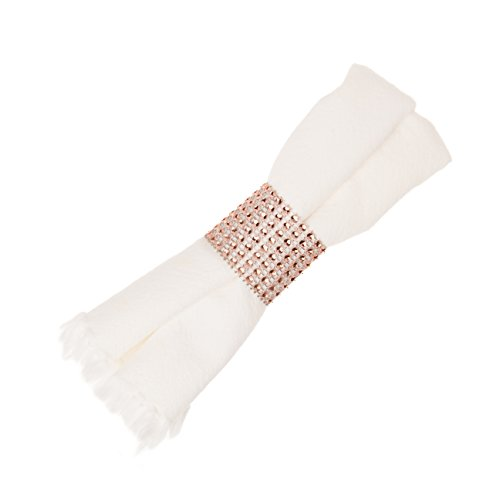 Ella Celebration Napkin Rings for Wedding, Napkin Ring Holders Bulk (Rose Gold, 100)