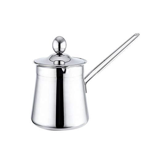 Kaffeekanne mit Deckel, Edelstahl Moderne Mokkakanne mit langem Griff, Türkische Kaffeekanne geeignet für Elektro, Glaskeramik, Gasherd und Geschirrspüler