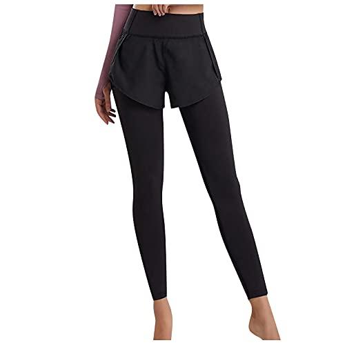 Junjie Leggings Mujer Color Liso con Bolsilos Pantalones Deportivos de Cintura Alta para Mujer Leggins de Deporte Casual Mallas Fitness Ideal para Yoga y Pilates Pantalón Transpirables Elásticos