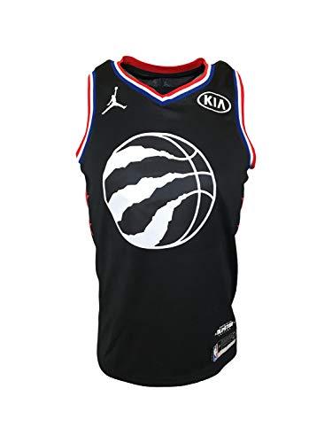 Nike Men's Kawhi Leonard #2 Toronto Raptors All-Star Jersey Black BV3571 100% Polyester (Large)