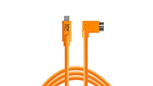 Tether Tools USB-C a 3.0 Micro-B rechtwinklig 4,60 m orange