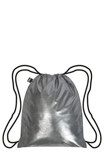 LOQI Metallic Rucksack, 10 Liter, Matt Silver