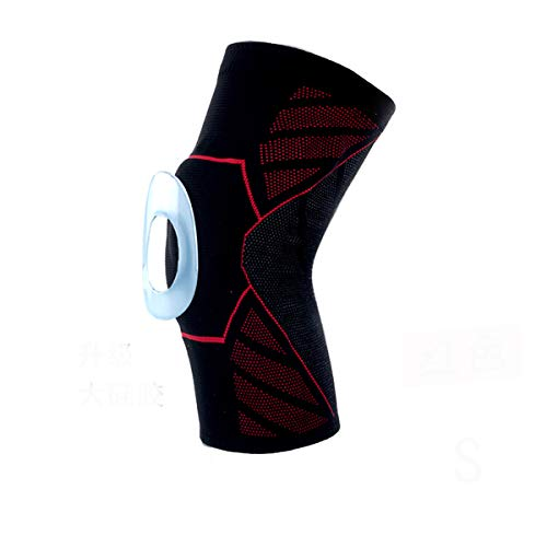 Uobettsly Knee Brace for Men Women Compression Sleeve Non-Slip, Support for Arthritis, ACL, Running, Biking, Basketball Sports, Joint Pain Relief, Faster Injury Recovery,Single Wrap (Red, L)