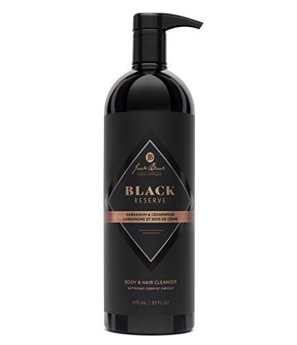 Jack Black Black Reserve Body & Hair Cleanser with Cardamom & Cedarwood, 33 Fl Oz