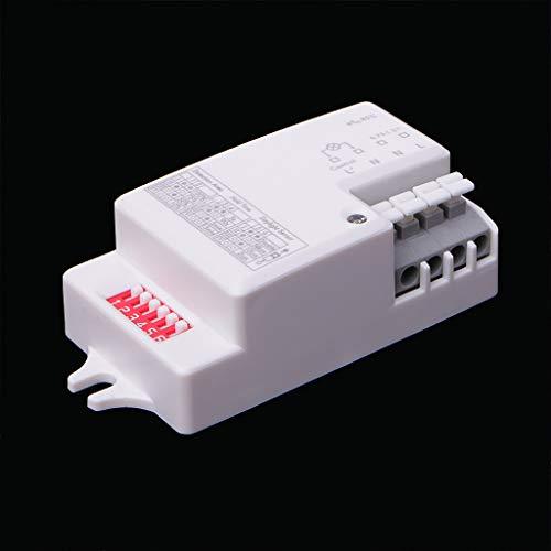 JENOR AC 220V-240V/50Hz Sensor de radar de microondas Detector de movimiento para luz LED