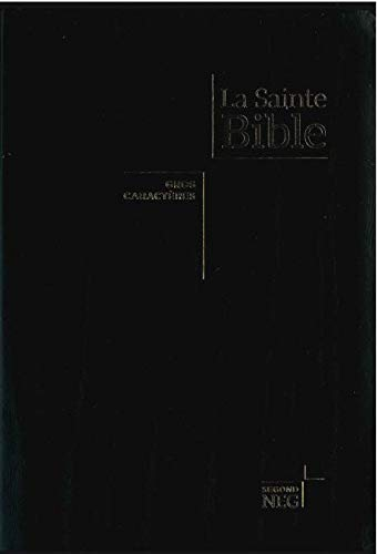 Bible NEG gros caractères - Fibro, tranche or, onglets