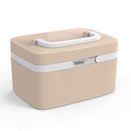 LLDKA Afsluitbare doos thuis gezondheidszorg hulp kit kleine plastic opslag box kits medische kits wachtwoord