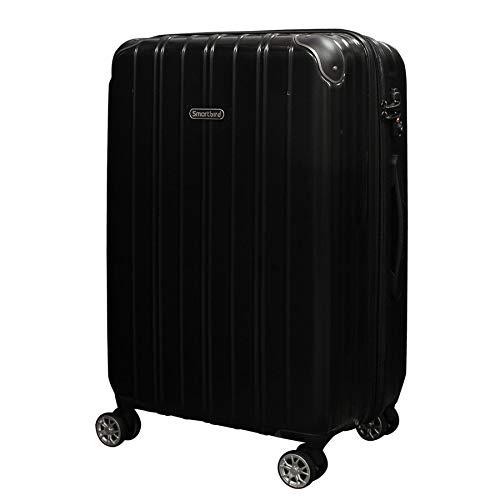 [DPN5035]キャリーケース スーツケース 軽量 Wキャスター TSAロック キャリーバッグ 旅行バッグ 旅行カバン (M, ブラック)
