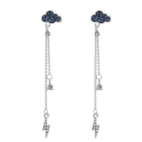 XinLuMing Pendientes de Borla de Perlas simulados Largos Elegante Little Love Heart Dangle Pendientes Metal Pendientes Hechos a Mano para Mujeres (Color : B)