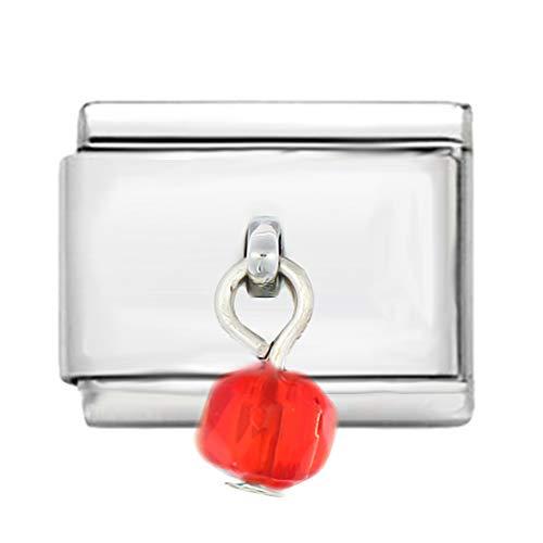 AKKi jewelry Italian Charms Armband Classic glieder Italy Charm,Silber Gold Edelstahl Links Kult modele Blume Tiere Herz für Anhänger Rot