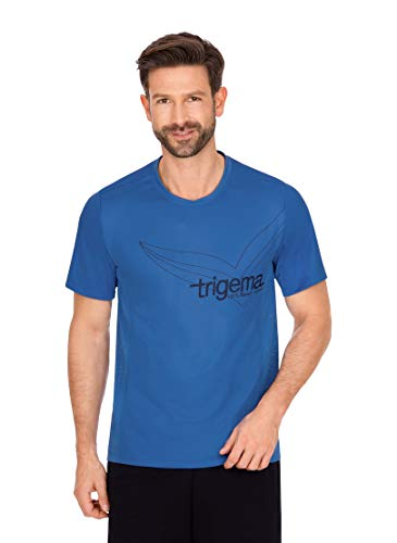 Trigema Herren 644239120 T-Shirt, Electric-Blue, M