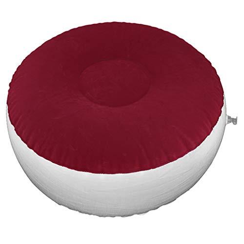 SM SunniMix Aufblasbares Kissen Hocker Sitzhocker Sitzsack Geschenke für Reise Picknick Camping Outdoor Angeln - Rot, 62x32cm