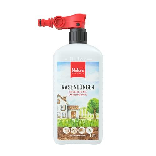 Natura Germania® flüssiger Rasendünger 1 LT mit Sprayeinrichtung - für 100 m² - für ansehnliche Rasen - einfache Handhabung