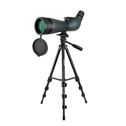 Svbony SV19 Telescopio Terrestre 20-60x80, HD Telescopio Terrestre Profesional con Trípode, mpermeables Porro Prism FMC Optics Catalejos Spotting Scope paraTiro al Blanco, Caza, Fauna Silvestre