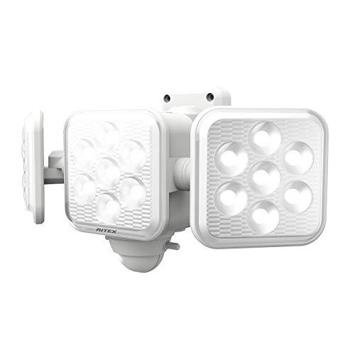 ムサシ RITEX フリーアーム式LEDセンサーライト(5W×3灯) 「乾電池式」 LED-320 ホワイト