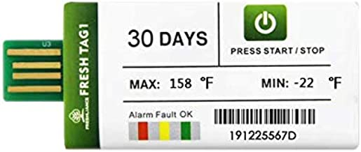 Freshliance Fresh Tag 1 Temperature Logger 3Pack 90 Days PDF Report USB Temperature Data Logger for Cold Chain Transport Easy Use Free Software