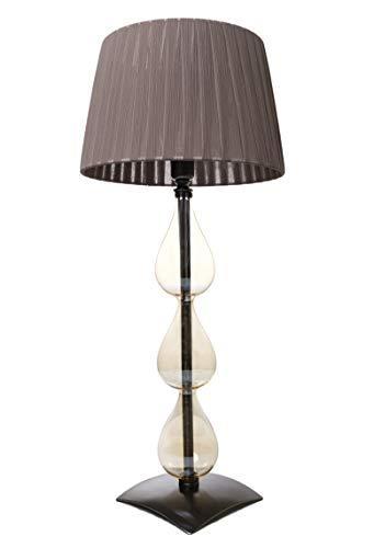 Lámpara Lume'Tres gotas' estilo contemporáneo de cristal soplado con pantalla hecha a mano