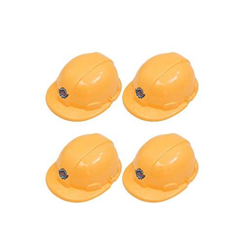 Toyvian 4 stücke Kinder BAU schutzhelm gelb schutzhelm spaß Requisiten für Kinder Weihnachtsfeier gefälligkeiten