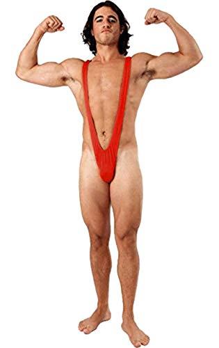 ORION COSTUMES Borat tanga bañador para hombre (rojo brillante)