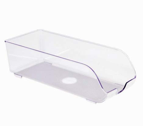 ALEMOK Organizador de Nevera, Organizador de latas, Caja de Plástico transparente de Almacenamiento, Organizador de despensa