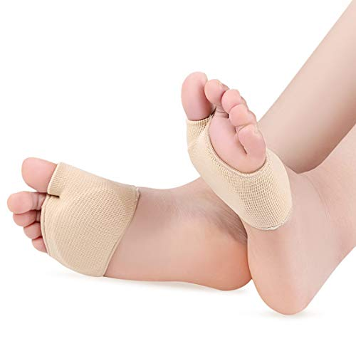 ChuJun Daumen-Valgus-Pflegeset mit Gewinde Vorfußbandage gepolstert Fußpolster Pads, Pflege für die Füße, bequeme Füße,Schmerzlinderung und Druckentlastung bei Metatarsalgie,1 Paar Vorfußkissen