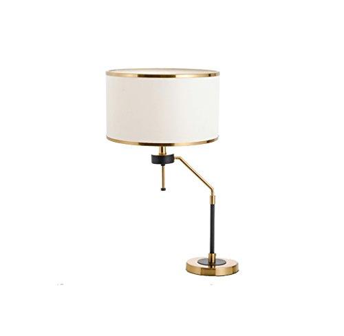 JPVGIA Diseñador minimalista estadounidense Moda Lámpara de mesa de hierro forjado Dormitorio Lámpara de cabecera Lámpara de escritorio moderna y de bajo consumo Lámpara de escritorio Estudio Mesa de