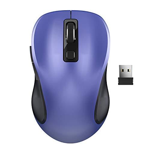 Kabellose Maus, WisFox 2.4G USB Kabellose Ergonomische Maus Computermaus Laptop Maus USB Maus 6 Tasten mit Nano-Empfänger 3 Einstellbare DPI-Werte Schnurlose Drahtlose Mäuse für Windows, Mac
