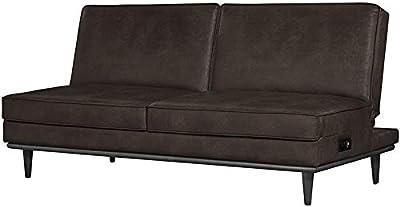 Hawthorne Collections Convertible Sleeper Sofa in Dark Brown