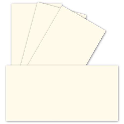 Enkele kaarten DIN lang - natuurlijk wit - 50 stuks - premium kwaliteit - 10,3 x 20,8 cm - zeer vormvast - geschikt voor printer ideaal voor wenskaarten en uitnodigingen - Merk: NEUSER KLEURRIJS