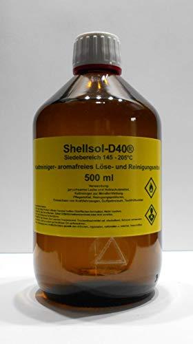 500 ml Shellsol-D40®, Siedebereich 145-205°C°C, Kaltlreiniger, aromafreies Lösungsmittel