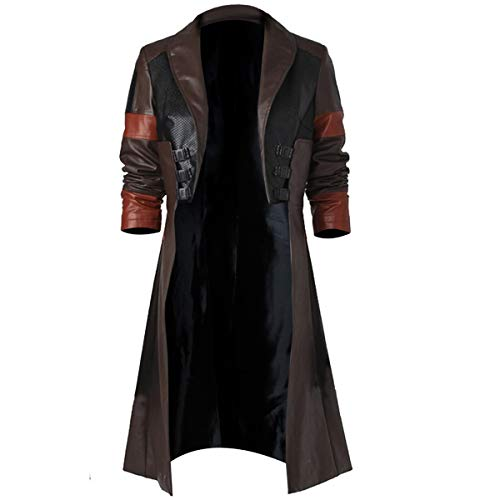 Fashion_First Zoe Saldana Cosplay - Abrigo de piel sintética para Gamora Guardians of Galaxy 2