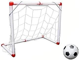 1 Set Child Birthday Gift Plastic Folding Mini Football Soccer ball Goal Post Net Set/Pump Kids Sport Indoor Outdoor Games...